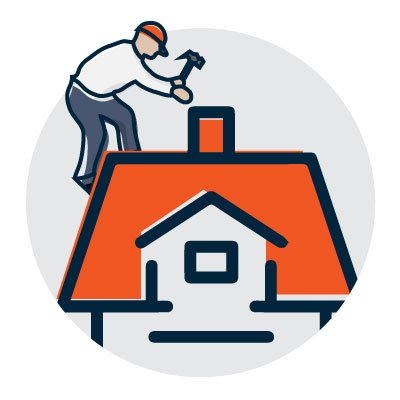 Roof work icon