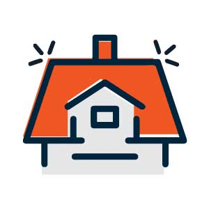 Roofing solution icon