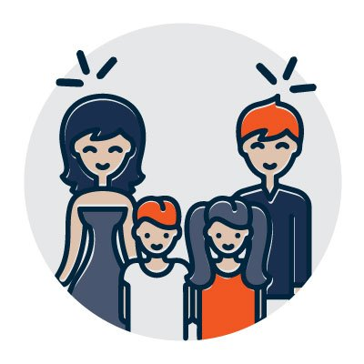 Safe family icon