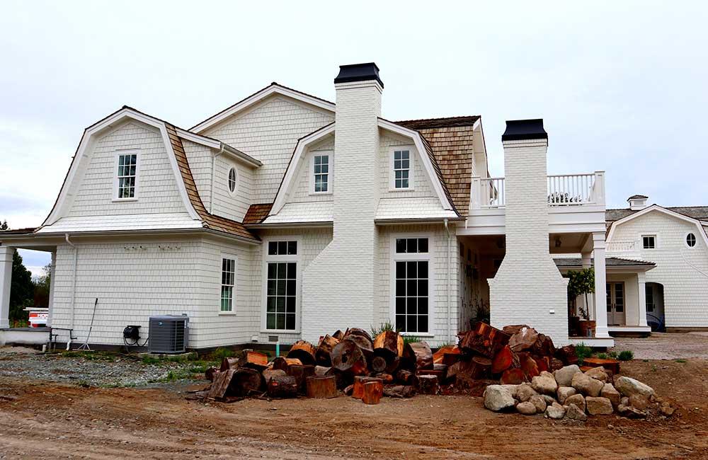 Cedar roof on house