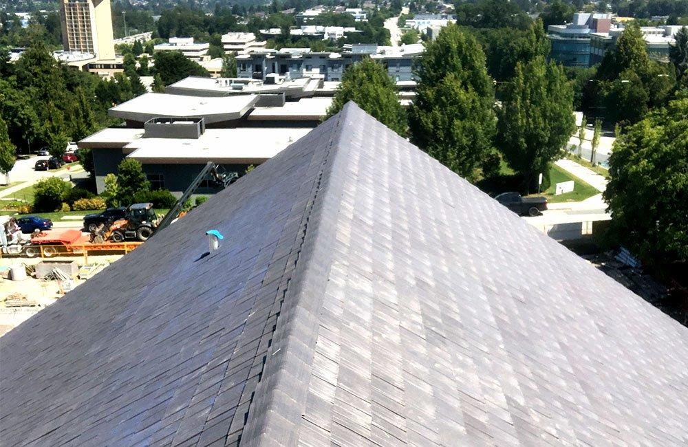 Enviroshake roof on schou educational center